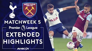 Tottenham v. West Ham United   PREMIER LEAGUE HIGHLIGHTS   10/18/2020   NBC Sports