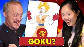 Animator Vs. Cartoonist Draw Dragon Ball Z Characters From Memory (ft. Ross Draws) • Draw Off