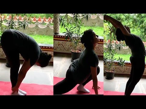 Actress Hari Teja's yoga video going viral on social media