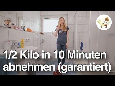 So nimmt man in 10 Minuten ein halbes Kilo ab
