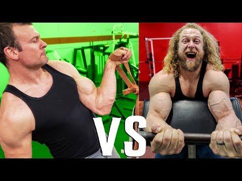 WHO BUILDS BIGGER ARMS? Arm Wrestler Vs. Bodybuilder