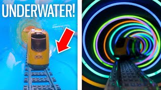 I Built a HUGE Lego Railway - Up Stairs & Underwater!