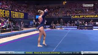 Savannah Kooyman 2018 Floor vs Cal 9.825