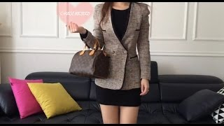 Louis Vuitton Speedy 25 Monogram Review,Alma BB vs Speedy 25,