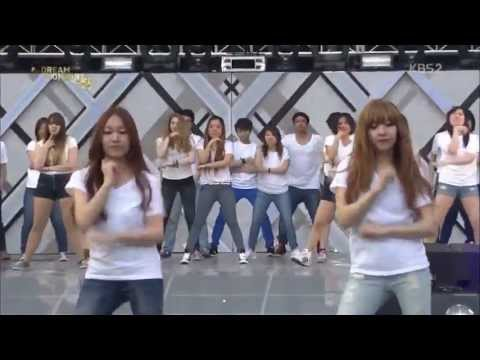 130531 SNSD Kara 4minute Secret Super Junior Gangnam Style Dance Cover (Dream Concert)