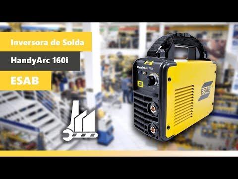 Inversora de Solda 160 Amperes HandyArc 160i Esab - 220V - Vídeo explicativo