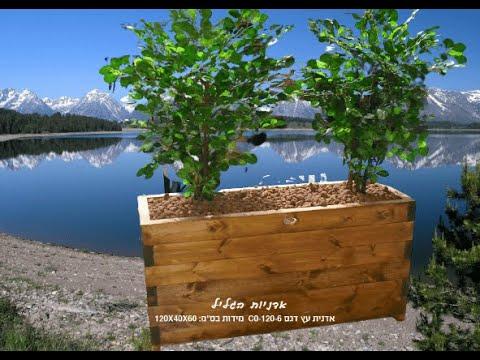 אדניות עץ גדולות לתיחום