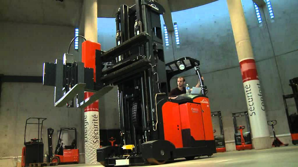Linde Man Down Turret Truck Youtube