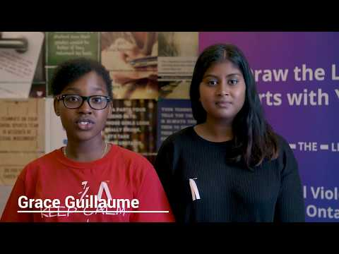 Ontario students talk about the Draw the Line campaign