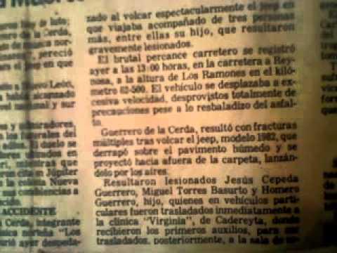 DOS CORONAS CADETES DE LINARES (PERIODICO QUE HABLA DE LA MUERTE DE HOMERO GUERRERO 1982)