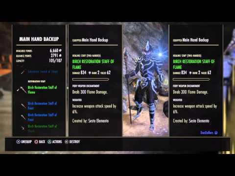 Magicka Dragon Knight Pve Build