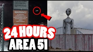 (MILITARY) 24 HOUR CHALLENGE IN AREA 51! SNEAKING INTO AREA 51, THE TOP SECRET MILITARY BASE!