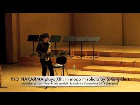 RYO NAKAJIMA plays XIII In modo misolidio by S Karg Elert