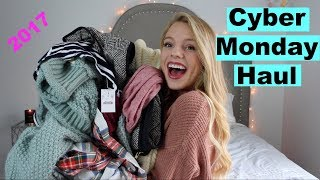 CYBER MONDAY HAUL 2017 | American Eagle, MAC, Sephora, Too Faced, J.crew, LOFT, & more