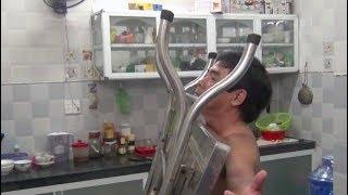 Tiền Giang: Kì lạ người đàn ông có khả năng 'hút' dao, bàn inox