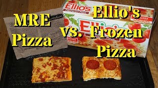 MRE Pizza vs. Ellio's Frozen Pizza!