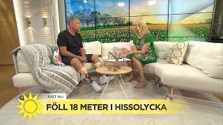 """Per Ferm föll 18 meter i hissolycka – """"Jag spände kroppen och väntade på smälle - Nyhetsmorgon (TV4)"""