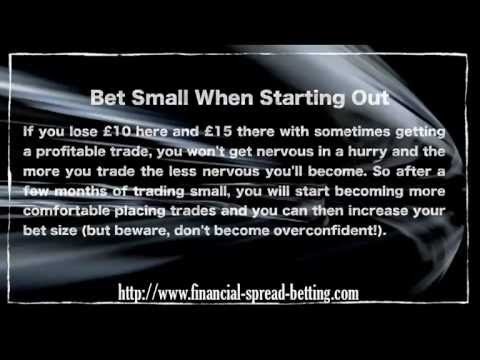 Spread Betting: Bet Small When Starting Out