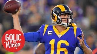 Jared Goff's performance propels LA Rams past Minnesota Vikings   Golic & Wingo   ESPN