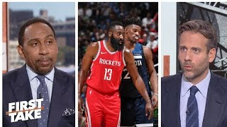 Stephen A., Max weigh chances of Jimmy Butler going to Rockets   First Take   ESPN