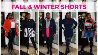 HOW TO STYLE SHORTS DURING FALL & WINTER (TRY ON HAUL)