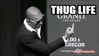 THUG LIFE - Jose Aldo Shows Conor Mcgregor the Finger at UFC 189 Press Tour