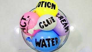 Making Satisfying Shaving Cream Fluffy Slime with Balloons!