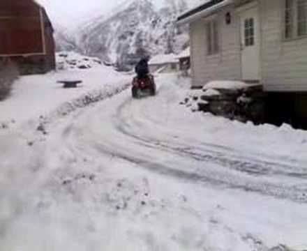 yamaha grizzly 660 in winter