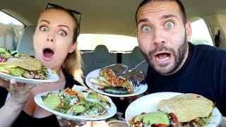 COUPLE TRIES TIJUANA TACOS & MEXICAN FOOD MUKBANG!!