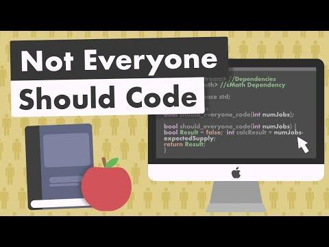 Not Everyone Should Code