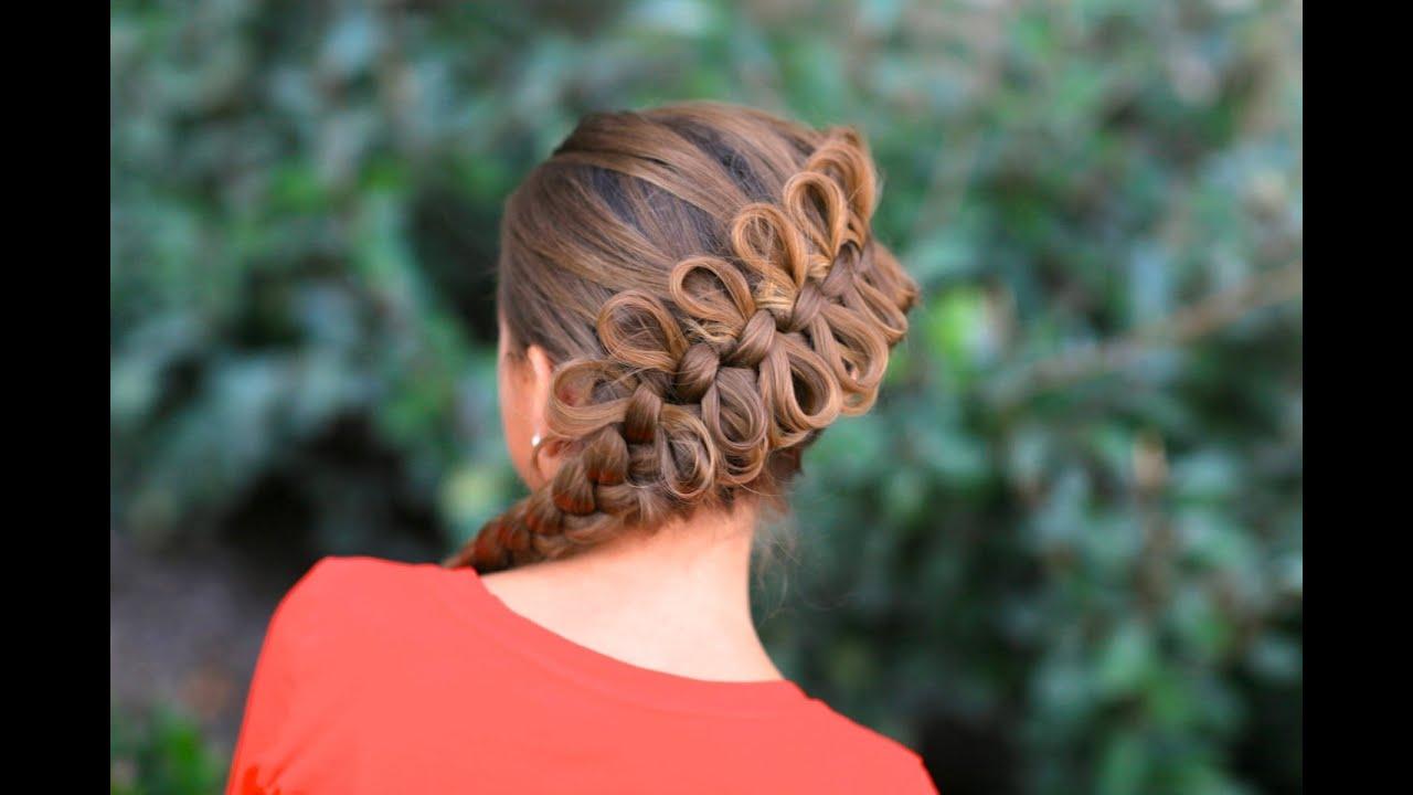 Hair Bow Styles: How To Create A Diagonal Bow Braid