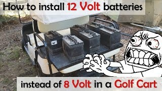 Using 12v Batteries in a 48v Golf Cart, instead of 8 / 6 volt battery - Yamaha g19 (and others!)