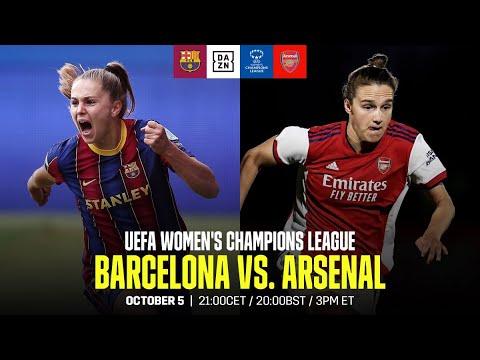 Barcelona vs. Arsenal   UEFA Women's Champions League Matchday 1 Full Match