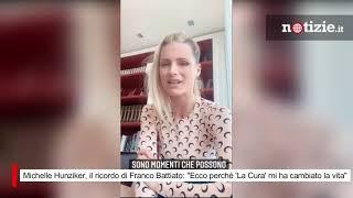 """Michelle Hunziker, il ricordo di Franco Battiato: """"Ecco perché 'La Cura' mi ha cambiato la vita"""""""