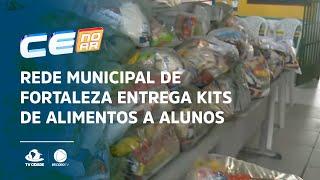 Rede Municipal de Fortaleza entrega kits de alimentos a alunos