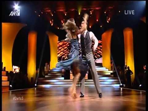 Χρήστος Σπανός Μαρία Αντιμισάρη Η εμφάνιση στο πέμπτο live του Dancing With The Stars 5