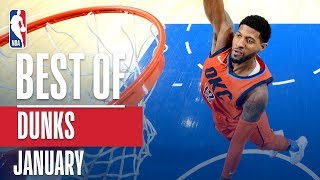 NBA's Best Dunks | January 2018-19 NBA Season