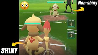 😮Shiny smeargle v/s smeargle quick battle || shiny v/s non shiny battle in pokemon go.