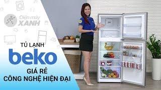 Tủ lạnh Beko Inverter 230 lít: giá rẻ, nhiều công nghệ hiện đại (RDNT230I50VS)   Điện máy XANH