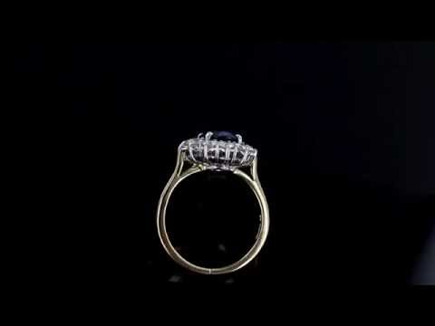 Browns Family Jewellers Diamond and Sapphire Cluster Ring