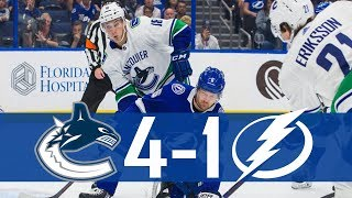 Canucks vs Lightning | Highlights (Oct. 11, 2018) [HD]