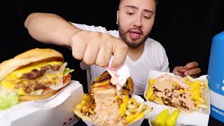 IN-N-OUT ANIMAL STYLE FRIES + DOUBLE DOUBLE BURGERS MUKBANG 먹방 | Eating Show