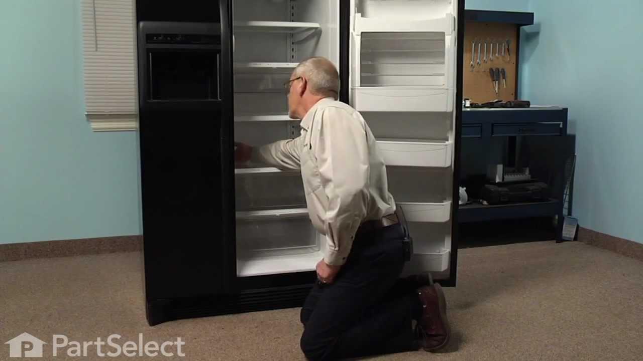 Refrigerator Repair Replacing The Light Bulb Whirlpool