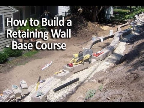 How To Install A Retaining Wall Base Course Youtube
