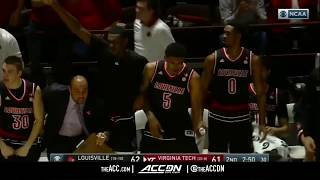Louisville vs Virginia Tech College Basketball Condensed Game 2018