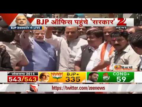 Narendra Modi gets rousing welcome in Delhi