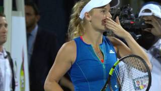 Highlights: WTA R1 - Wozniacki vs. Kasatkina