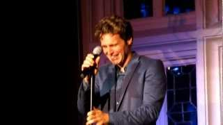 """Jonathan Groff Reenacting the Time He Forgot the Words to """"Left Behind"""" at The Cabaret"""