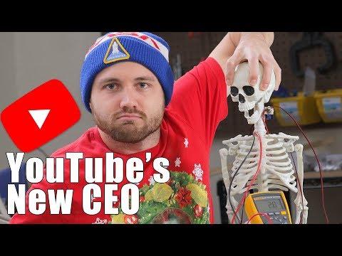 Robot Skeleton Replaces YouTube CEO