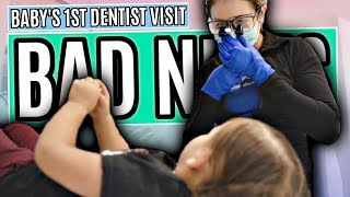BABY'S FIRST DENTIST VISIT! THEY GIVE US BAD NEWS! | HISPANIC FAMILY VLOGGERS
